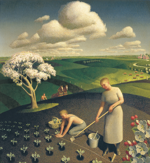 Signification Reves Avril grant-wood