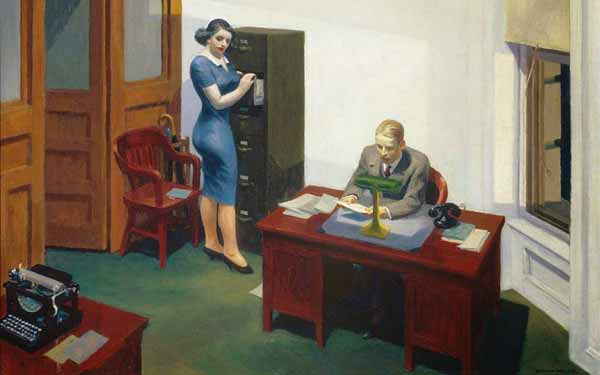 Signification Reves bureau travail Edward Hopper