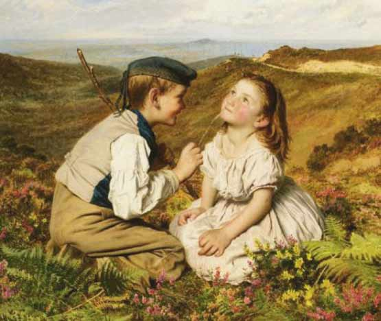 Signification Reve chatouilles sophie anderson 1823 1903