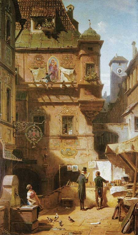 Signification Reves  commercant Carl Spitzweg