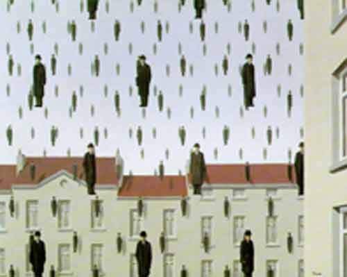 Signification Reves evaporer golconde-magritte
