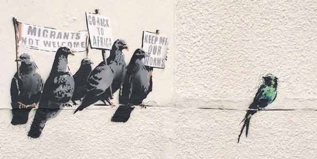 Signification Rêves exclusion Banksy