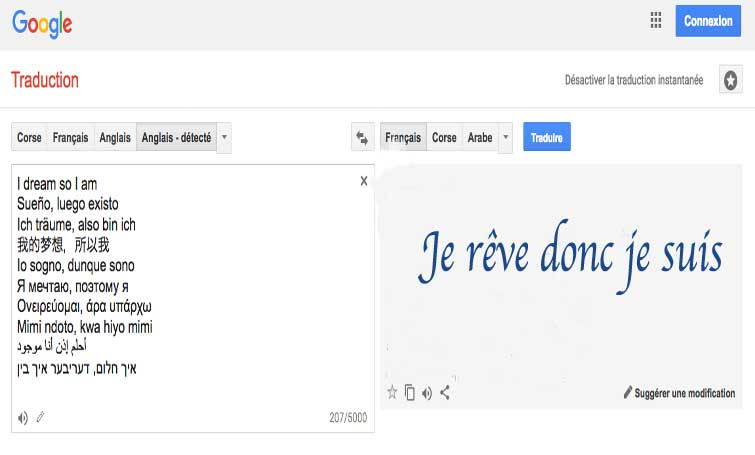 interprete google translate