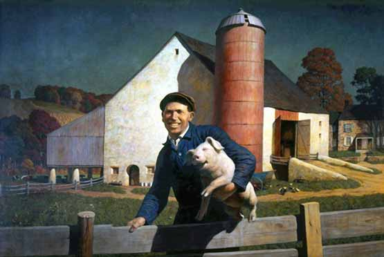 porc porcelet NC Wyeth