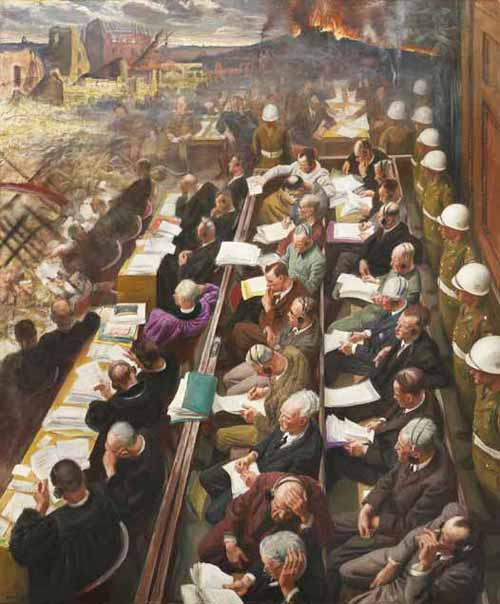 proces Laura Knight Nuremberg