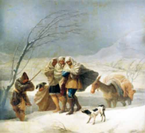 Signification Reves tempete-neige-Goya